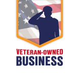 Patey Designs - Free Veteran Owned Business Badge for Light Background